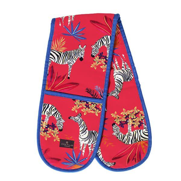 Sara Miller Tahiti Zebra Double Oven Glove