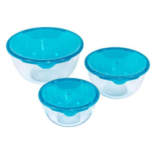 Pyrex 3 Piece Prep & Store Bowl Set