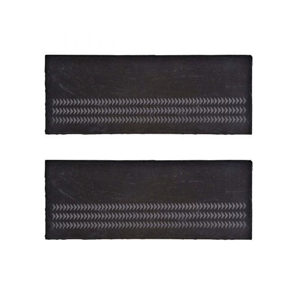 Denby Natural Canvas Set Of 2 Slate Mini Platter