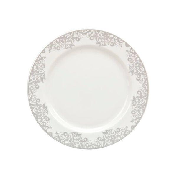 Denby Monsoon Filigree Silver Small Plate