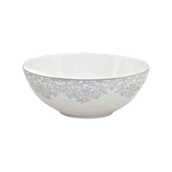 Denby Monsoon Filigree Silver Cereal Bowl
