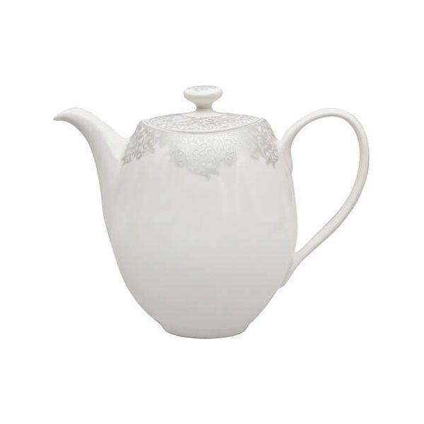 Denby Monsoon Filigree Silver Teapot