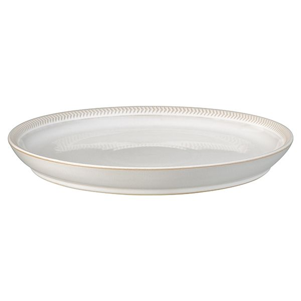 Denby Natural Canvas Textured Coupe Dinner Plate