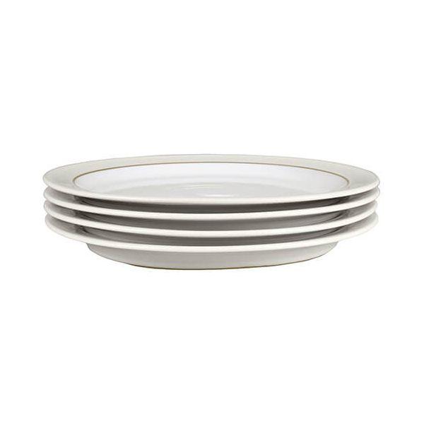 Denby Natural Canvas 4 Piece Dinner Plate Set