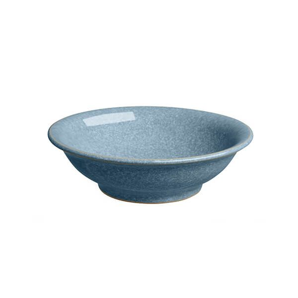 Denby Elements Blue Small Shallow Bowl