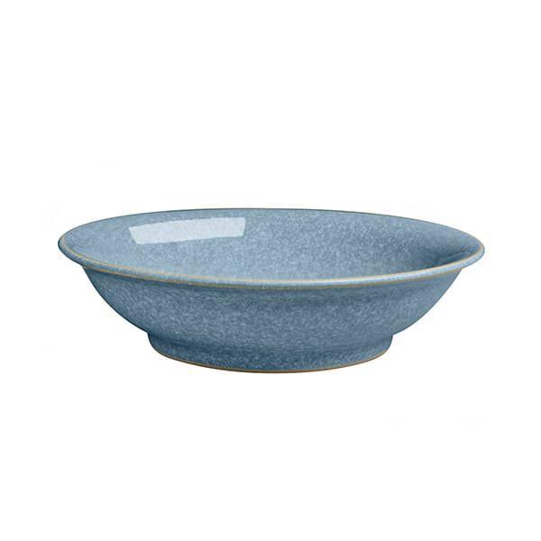Denby Elements Blue Medium Shallow Bowl