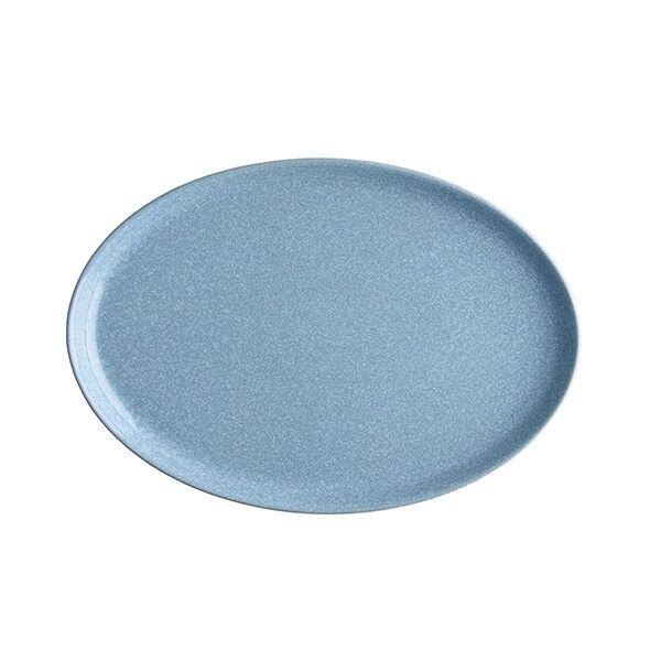 Denby Elements Blue Medium Oval Tray