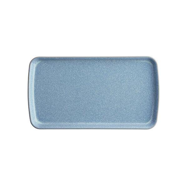 Denby Elements Blue Small Rectangular Platter
