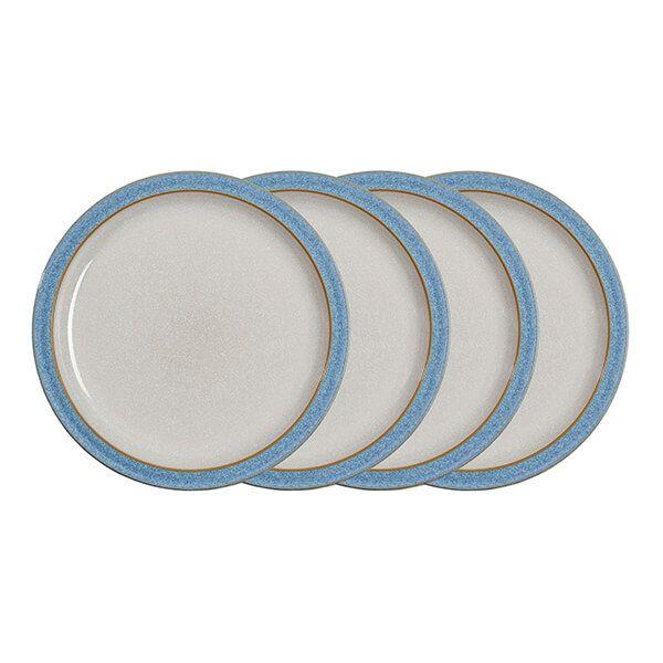 Denby Elements Blue Set Of 4 Dinner Plates