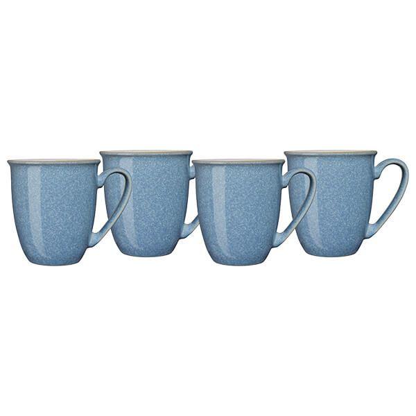 Denby Elements Blue Set Of 4 Coffee Mugs