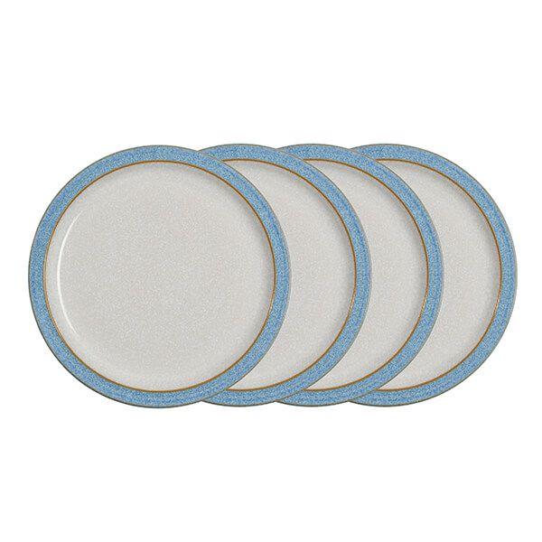 Denby Elements Blue Set Of 4 Medium Plate