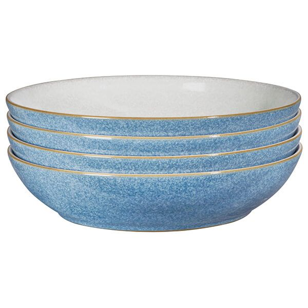 Denby Elements Blue Set Of 4 Pasta Bowls