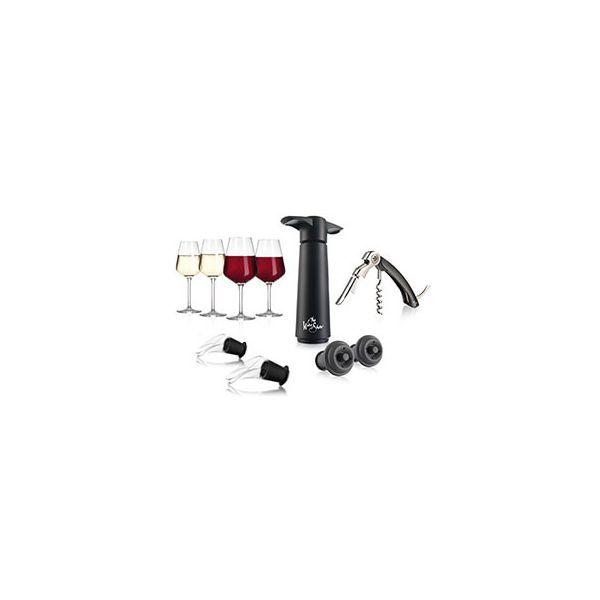 The Wine Show Glassware & Wine Accessories Gift Set