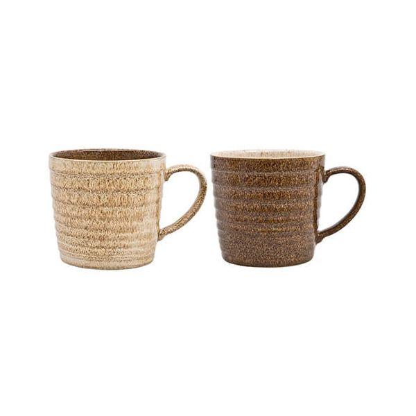 Denby Studio Craft 2 Piece Alt Ridged Mug Set