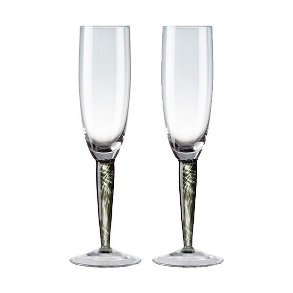 Denby Jet Set Of 2 Champagne Flutes