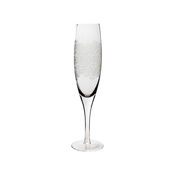 Denby Monsoon Filigree Champagne Flute Pack Of 2