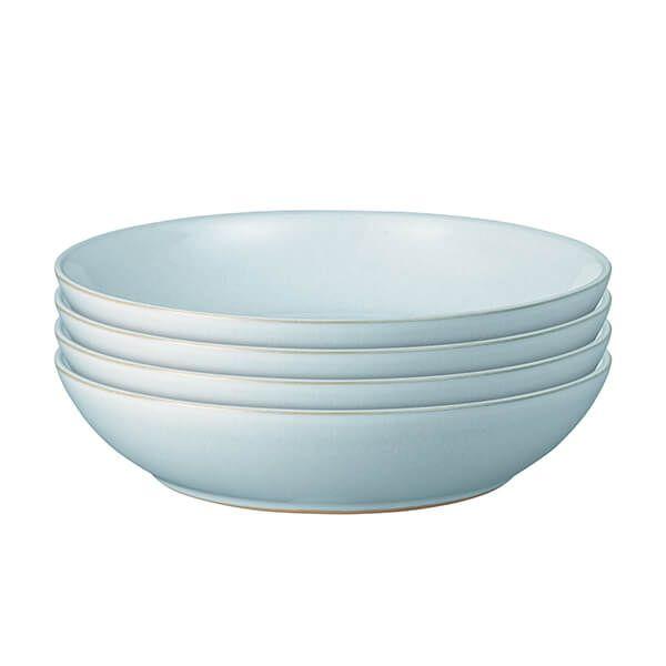Denby Intro Pale Blue 4 Piece Pasta Bowl Set