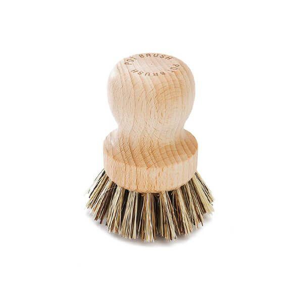 Valet Pot Brush With Stiff Plant Fibre Bristles