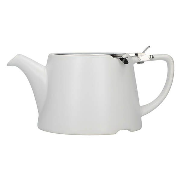 London Pottery Oval Filter 3 Cup Teapot Satin White