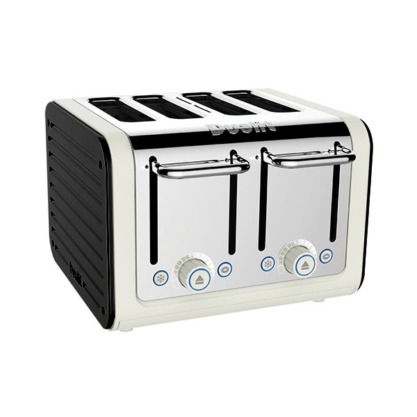 Dualit Architect 4 Slot Canvas Body With Gloss Black Panel Toaster