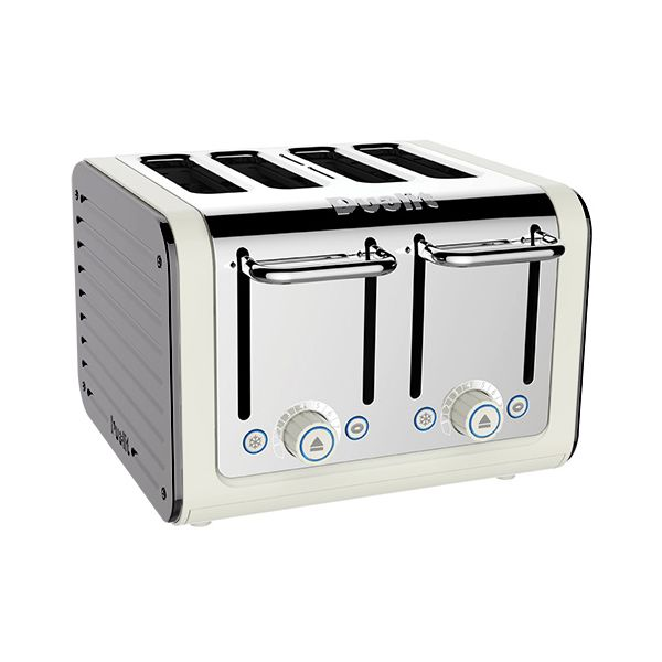 Dualit Architect 4 Slot Canvas Body With Metallic Silver Panel Toaster