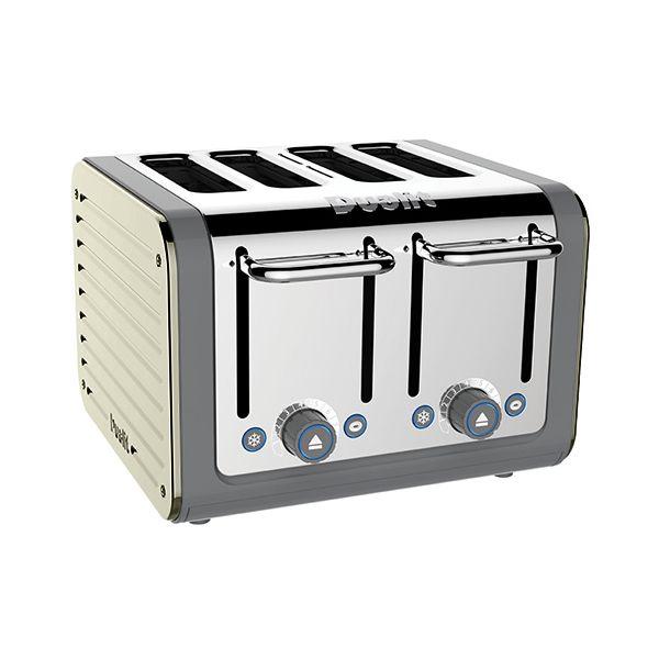 Dualit Architect 4 Slot Grey Body With Canvas White Panel Toaster
