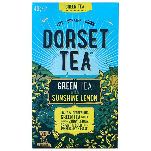 Dorset Tea Pure Green Tea with Sunshine Lemon 20 Bags