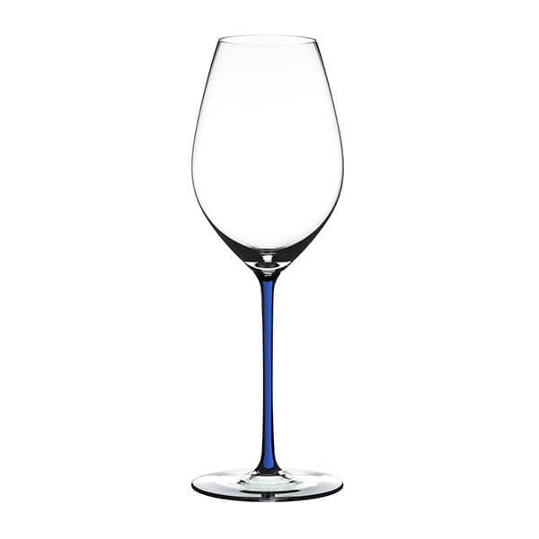 Riedel Hand Made Fatto A Mano Champagne Wine Glass Dark Blue