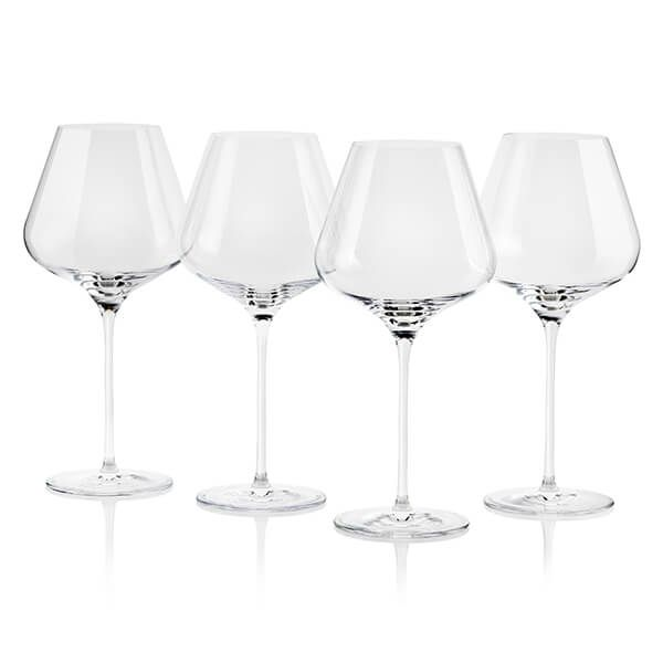 Le Creuset Burgundy Wine Glasses Set of 4