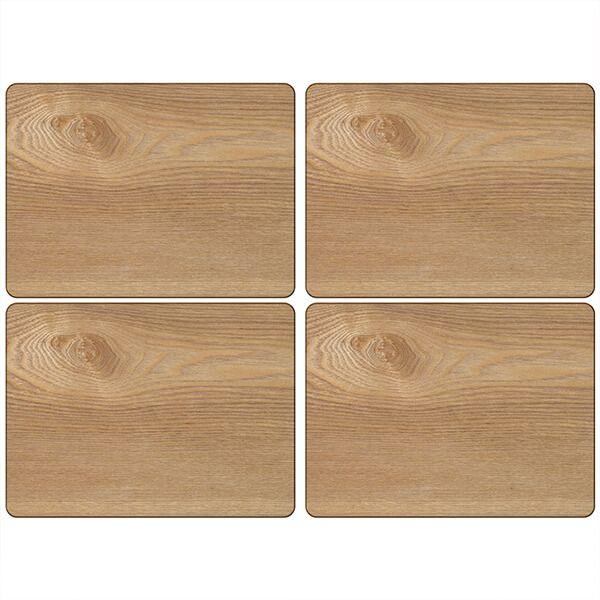 Creative Tops Oak Veneer Pack Of 4 Placemats