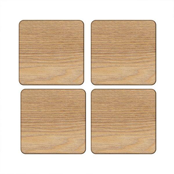 Creative Tops Oak Veneer Pack Of 4 Coasters