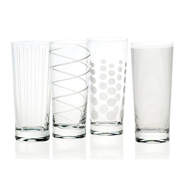 Mikasa Cheers Set Of 4 High Ball Glasses