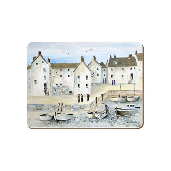 Creative Tops Cornish Harbour Set Of 6 Premium Table Mats