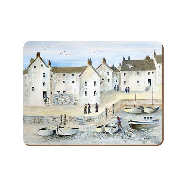 Creative Tops Cornish Harbour Set Of 4 Large Premium Placemats