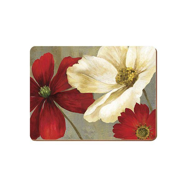 Creative Tops Flower Study Set Of 6 Premium Table Mats