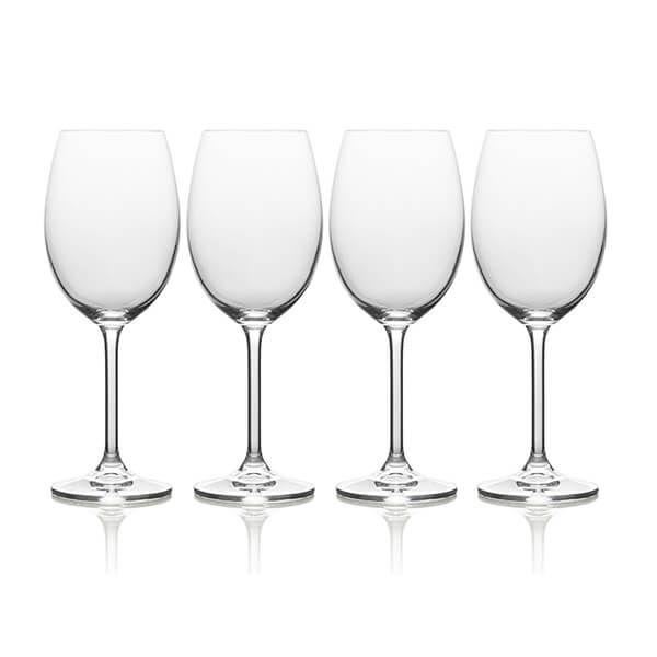 Mikasa Julie Set Of 4 16.5oz White Wine Glasses