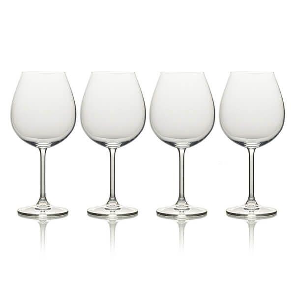 Mikasa Julie Set Of 4 21.5oz Bordeaux Wine Glasses