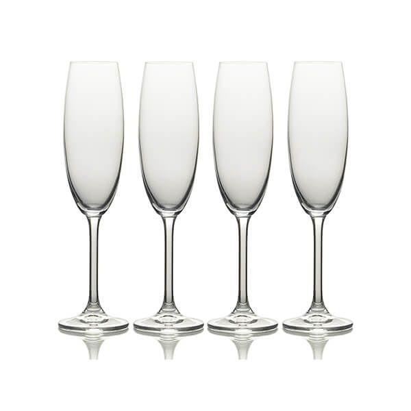 Mikasa Julie Set Of 4 8oz Flute Glasses