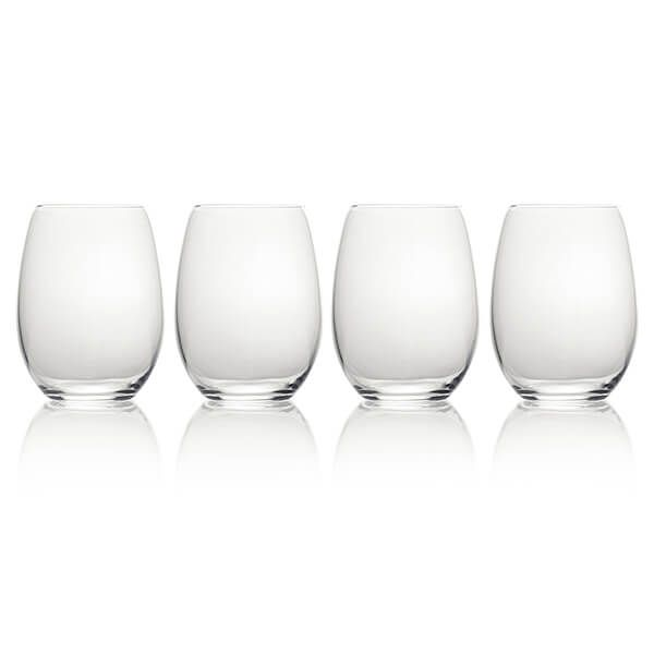 Mikasa Julie Set Of 4 19.75oz Stemless Wine Glasses