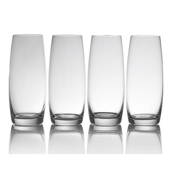 Mikasa Julie Set Of 4 9oz Stemless Flute Glasses