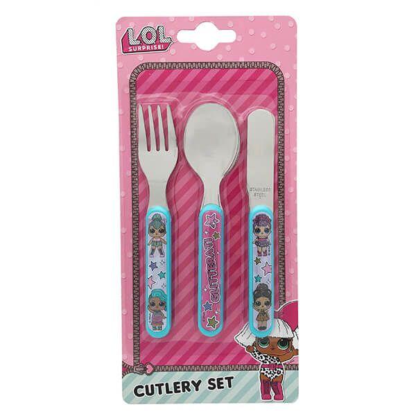 LOL Surprise 3 Piece Cutlery Set