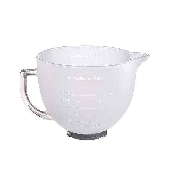 KitchenAid Artisan 4.8 Litre Frosted Glass Bowl with Lid