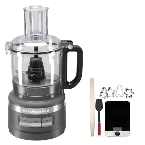 KitchenAid 1.7L Charcoal Grey Food Processor with FREE Gift