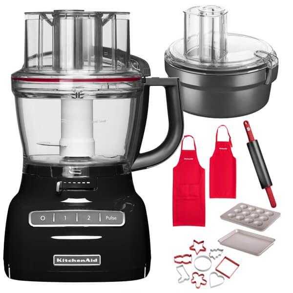 KitchenAid 3.1L Onyx Black Food Processor with FREE Gifts