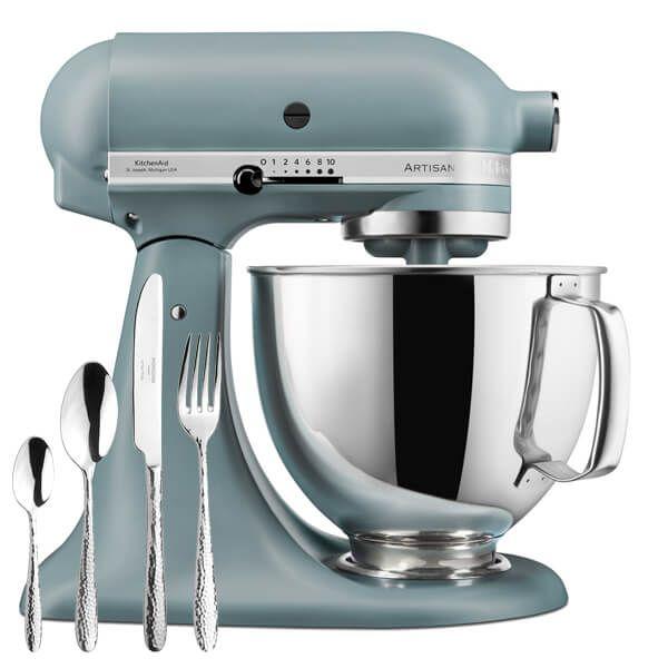 KitchenAid Artisan Mixer 175 Fog Blue with FREE Gift