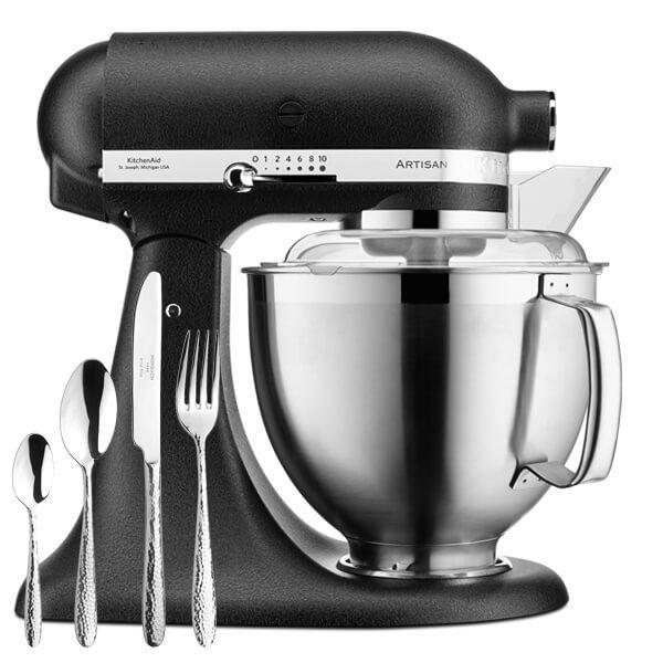 KitchenAid Artisan Mixer 185 Cast Iron Black with FREE Gift