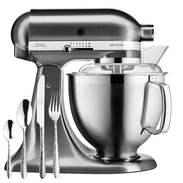 KitchenAid Artisan Mixer 185 Brushed Nickel with FREE Gift
