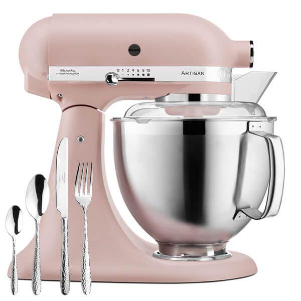 KitchenAid Artisan Mixer 185 Feather Pink with FREE Gift
