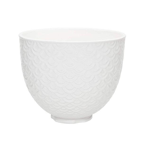 KitchenAid Ceramic Mermaid Lace 4.8L Mixer Bowl - White