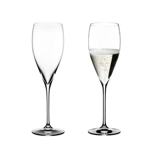 Riedel Vinum Vintage Champagne Set Of 2 Glasses